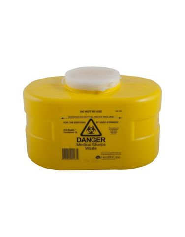 Sharps Container 3lit resealable top