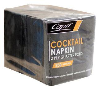 Napkin Cocktail 2ply Black-Carton 2000