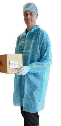 Disposable Lab Coats Blue no pocket