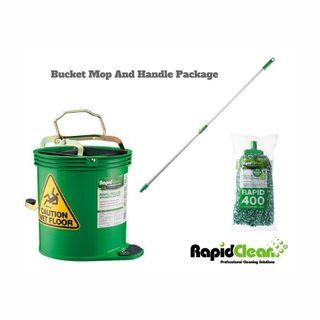Rapid Green Mop Handle Bucket Pkg