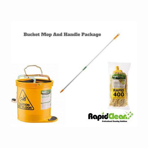 Rapid Yellow Mop,Handle,Bucket Pkg