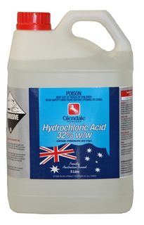 Hydrochloric Acid 5 litre 32% Pool clear