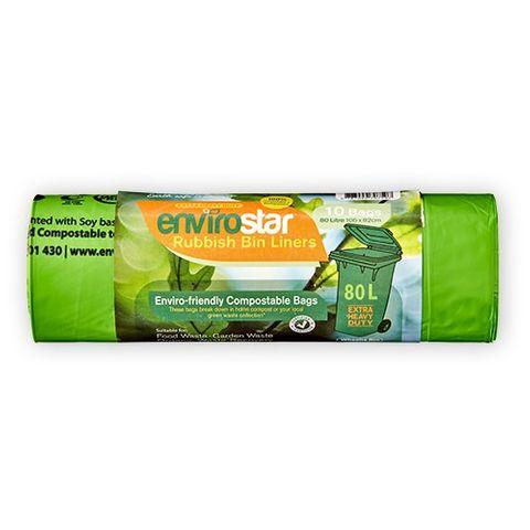 Compostable Bin Liners-80 L, Carton/200