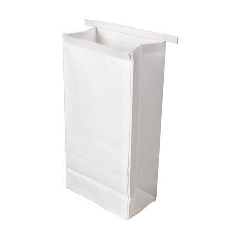 Motion Sickness Bag White Poly Lam