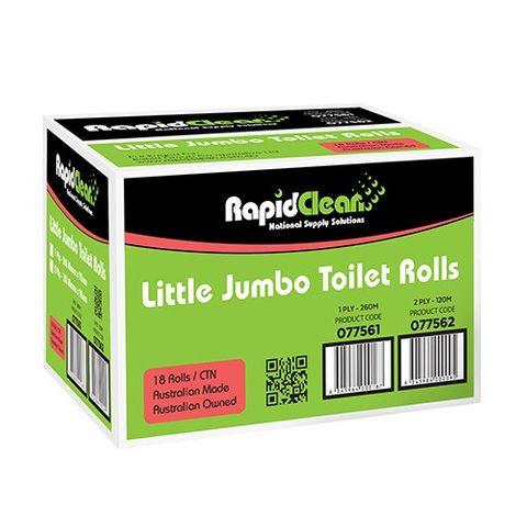 Little Jumbo Toilet Rolls-1 Ply,18 Rolls