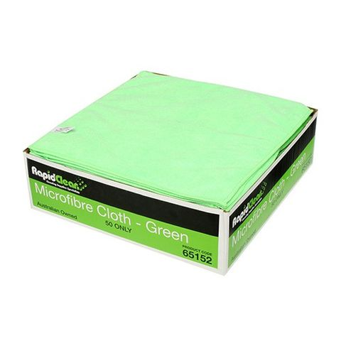Rapid ctn50 Microfibre Cloth Green