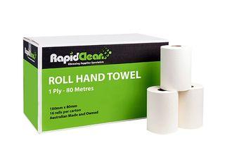Rapid Hand Towel Roll 1 ply(Ctn 16x 80m)