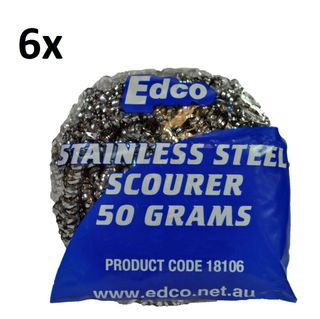 S/Steel Scourer 50gm (6 Pack)