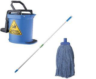 DuraClean Bucket Mop Package Blue