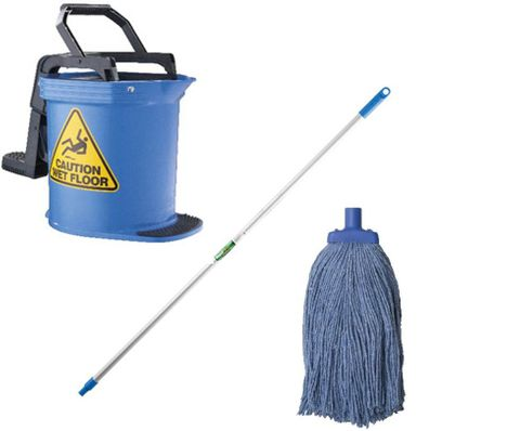 DuraClean Bucket Mop Package Blue