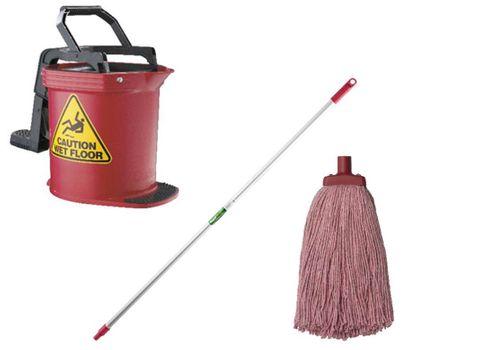 DuraClean Bucket Mop Package Red