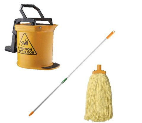 DuraClean Bucket Mop Package Yellow