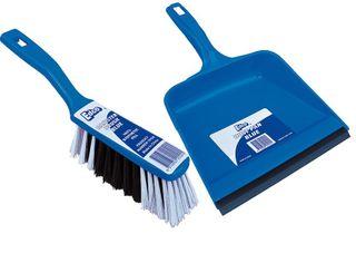 Edco Dust Pan & Brush Set Blue only