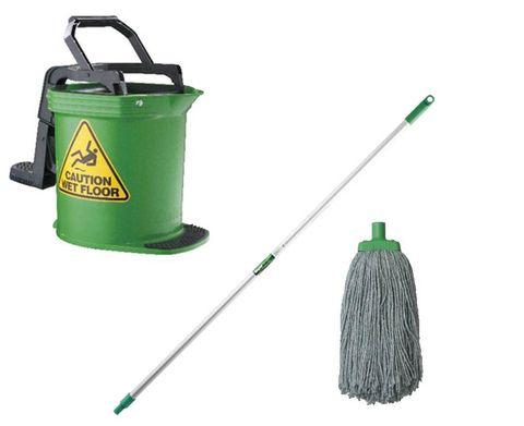 DuraClean Bucket Mop Package Green