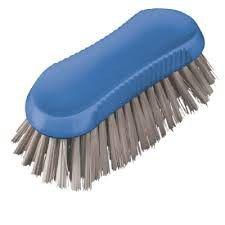 Daisy Dairy Scrubbing Brush - Blue