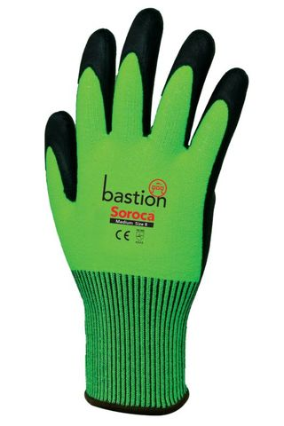 Soroca Cut 5 Green Gloves-Large/Size 9