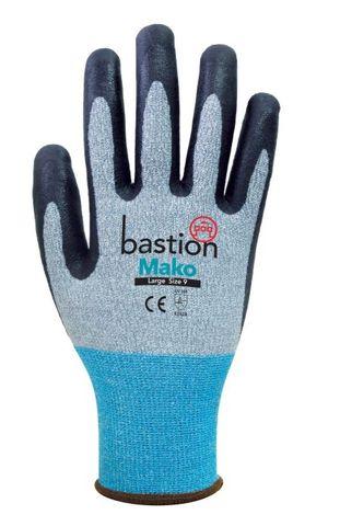 Mako Cut 3 Grey Spandex Gloves-Medium
