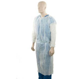 Polypropylene Clinical Gown, White Ct100