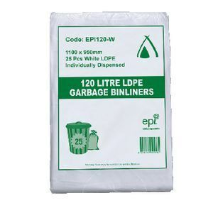 EPI Degradable 120litre LDPE Bin Liner
