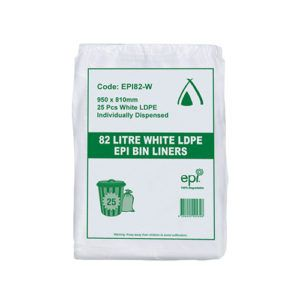 EPI Degradable 82lt LDPE Bin Liner