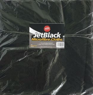 Pkt10 40cmX40cm Black Microfibre Cloth