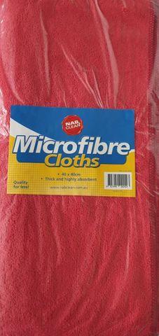 Pkt10 40cmX40cm Red Microfibre Cloth