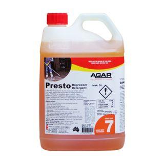 Agar Presto Caustic Degreaser 5lt PH13.5