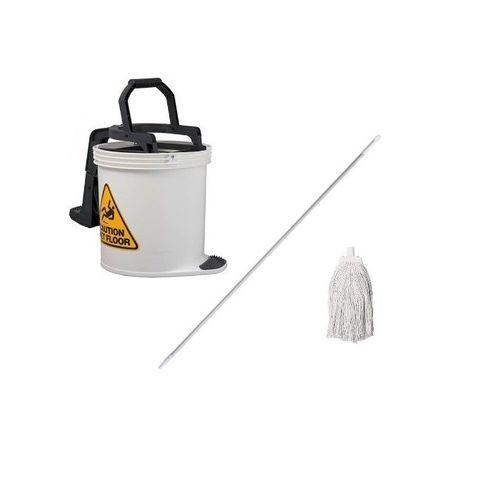 DuraClean Bucket Mop Package White