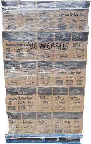 pallet Entice 1ply 500m Jumbo Toilet Rol