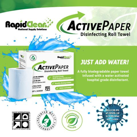 ActivePaper Disinfecting Roll 90m