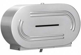 Dual Jumbo Toilet Roll Dispenser S/Steel
