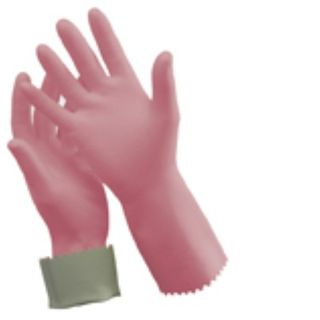 Silver Lined Rubber Gloves - Small