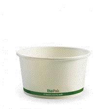 HOT PAPER BIO BOWL 430ML - WHITE, CARTON 500