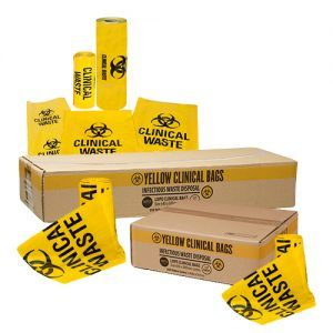 240LT YELLOW CLINICAL WASTE BAGS - 100 BAGS PER CARTON