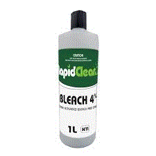 RAPIDCLEAN BLEACH 4% BOTTLE - 1L