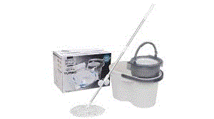 WHITE MAGIC TURBO SPIN MOP WITH HAND PRESS