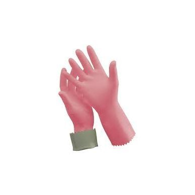 TUFF PINK SILVER LINED GLOVES - SIZE 9-9.5