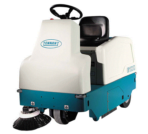 TENNANT 6100 - SUB COMPACT BATTERY RIDE ON SWEEPER