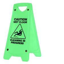 "OATES NON SLIP ""A"" FRAME CAUTION WET FLOOR SIGN - GREEN"