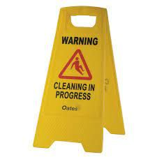 """OATES CONTRACTOR A-FRAME """"WARNING"""" SIGN"""