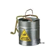 OATES METAL WRINGER BUCKET WITH CASTORS - 15L