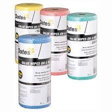 OATES VALUE WIPES ON A ROLL - YELLOW