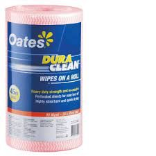 OATES DURACLEAN WIPES ON A ROLL - RED