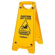 RAPID A-FRM CAUTION SIGN YELLOW