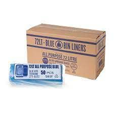 BLUE ALL PURPOSE GARBAGE BAGS 72L