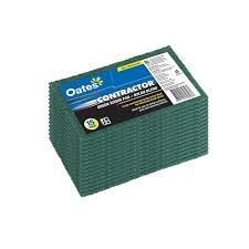OATES SC-103V CONTRACTOR HEAVY DUTY GREEN SCOUR PAD - 15 PACK