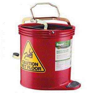 OATES RAPID ROLLER WRINGER BUCKET - RED
