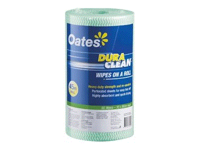 OATES DURACLEAN WIPES ON A ROLL - GREEN