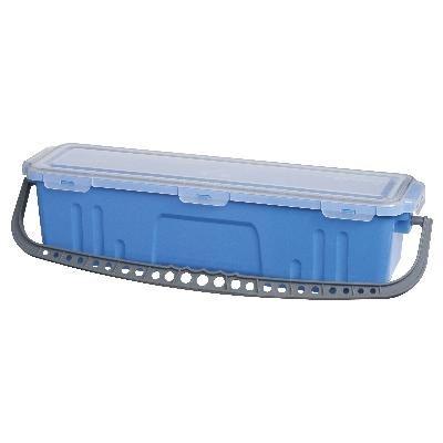 Flat Mop Soak Bkt & Lid Blue