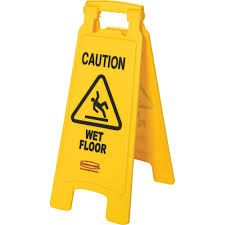 RUBBERMAID 2 SIDED WET FLOOR SIGN